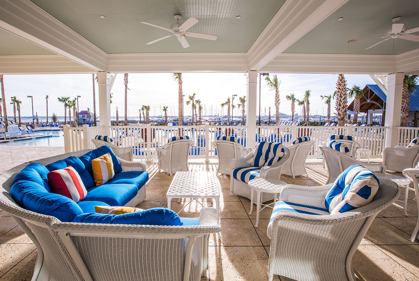 Relaxing Couch and Table at The Beach Club