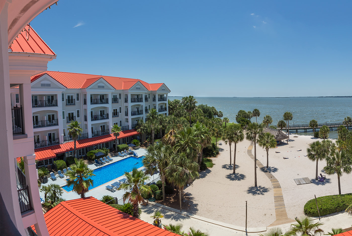 Aerial View of Harborside Resort in Charleston South Carolina